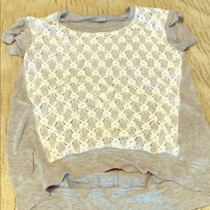 Casual lace front shirt
